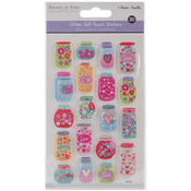 Mason Jar - MultiCraft Glitter Soft-Touch Dimensional Stickers