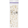 Uppercase Alphabet Gold - MultiCraft Clear Foil Stickers