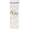 Lowercase Alphabet Gold - MultiCraft Clear Foil Stickers
