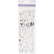Uppercase Alphabet Silver - MultiCraft Clear Foil Stickers
