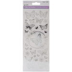 Butterfly Silver - MultiCraft Clear Foil Stickers