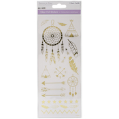 Suncatcher Gold W/Dreamcatchers - MultiCraft Clear Foil Stickers