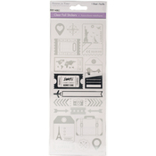 World Traveler Silver - MultiCraft Clear Foil Stickers