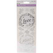 Love Silver - MultiCraft Clear Foil Stickers