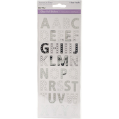 Alphabet Silver - MultiCraft Clear Foil Stickers
