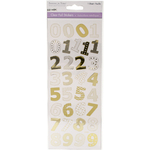 Numbers Gold - MultiCraft Clear Foil Stickers
