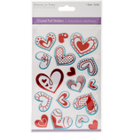 Hearts Red - MultiCraft Crystal Foil Stickers