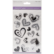 Hearts Black - MultiCraft Crystal Foil Stickers
