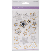 Stars Gold & Silver - MultiCraft Crystal Foil Stickers