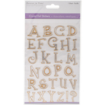 Uppercase Alphabet Gold - MultiCraft Crystal Foil Stickers