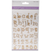 Lowercase Alphabet Gold - MultiCraft Crystal Foil Stickers
