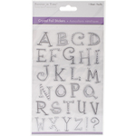 Uppercase Alphabet Silver - MultiCraft Crystal Foil Stickers