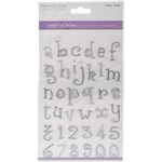 Lowercase Alphabet Silver - MultiCraft Crystal Foil Stickers