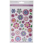 Flower Frenzy - MultiCraft Foil Laser Embossed Stickers