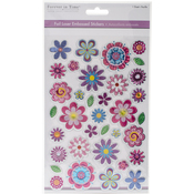 Flower Frenzy - MultiCraft Foil Laser Embossed Stickers