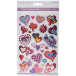 Hearts - MultiCraft Foil Laser Embossed Stickers