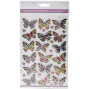 Butterfly Frenzy - MultiCraft Foil Laser Embossed Stickers