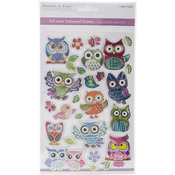 Owl Mania - MultiCraft Foil Laser Embossed Stickers