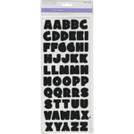 Black Bold Alphabet - MultiCraft Letters & Numbers Medley Clear Stickers