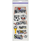 Soccer Star - MultiCraft Classic Theme Clear Stickers