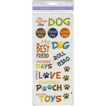 Pampered Pooch - MultiCraft Classic Theme Clear Stickers