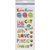 Here, Kitty Kitty - MultiCraft Classic Theme Clear Stickers
