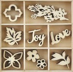 Garden - Themed Mini Wooden Flourishes - Kaisercraft