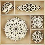 Bollywood - Themed Mini Wooden Flourishes - Kaisercraft
