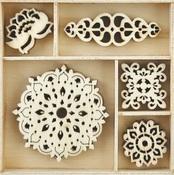 Bollywood - Themed Mini Wooden Flourishes - Kaisercraft