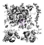Floral Decor Stamps - Prima