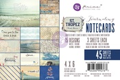 St Tropez 4 x 6 Journaling Cards - Prima -