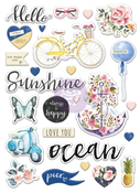St Tropez Puffy Stickers - Prima -