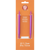 "Size 11/8mm - Circular Aluminum Knitting Needles 29"""