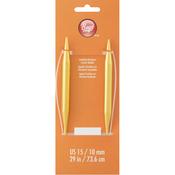 "Size 15/10mm - Circular Aluminum Knitting Needles 29"""