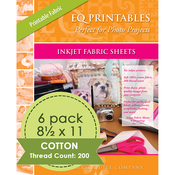 "Warm White - Inkjet Printable Fabric Sheets 8.5""X11"" 6/Pkg"