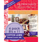"100% Cotton - Premium Printable Cotton Lawn Fabric 8.5""X11"" 6/Pkg"