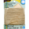 Natural - Fold-Over Jute Trim 3/4 X4yd Dritz-Fold Over Jute Trim. Use Fold-over Braid Trim as a decorative trim on DIY home decorating projects such as pillows and cushions. May also be used as flat braided trim. Dry clean only. Made of 96% jute/4% polyester. This package contains 4 yards of 3/4 inch wide fold over jute trim. Comes in a variety of colors. Each sold separately. Dry clean only. Imported.