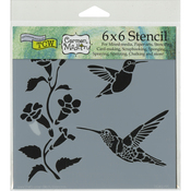 "Hummingbirds - Crafter's Workshop Template 6""X6"""