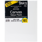 "Studio 71 Stretched Canvas Value Pack - 8""X10"" - 10/Pkg"