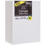 "9""X12"" - Studio 71 Stretched Canvas Value Pack 8/Pkg"