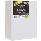 "9""X12"" - Studio 71 Stretched Canvas Value Pack 8/Pkg"