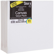 "12""X12"" - Studio 71 Stretched Canvas Value Pack 7/Pkg"