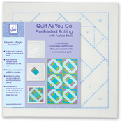 Mosaic Magic - Quilt As You Go Printed Quilt Blocks On Batting