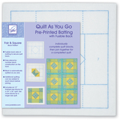 Fair & Square - Quilt As You Go Printed Quilt Blocks On Batting