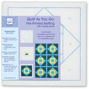Hopscotch - Quilt As You Go Printed Quilt Blocks On Batting
