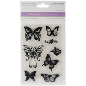 "Butterfly Fancy - MultiCraft Clear Stamps 4.12""X6.25"""