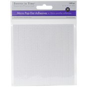 """White Round, .12"""" 1600/Pkg - MultiCraft 3D Pop Dots Dual-Adhesive Micro Foam Adhesives"""
