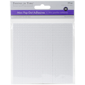 "White Round, .2"" 576/Pkg - MultiCraft 3D Pop Dots Dual-Adhesive Micro Foam Adhesives"