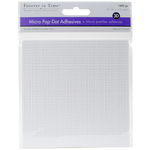 "White Square, .12"" 1600/Pkg - MultiCraft 3D Pop Dots Dual-Adhesive Micro Foam Adhesives"