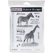 """Wild Africa 1 - Darkroom Door Cling Stamps 7""""X5"""""""